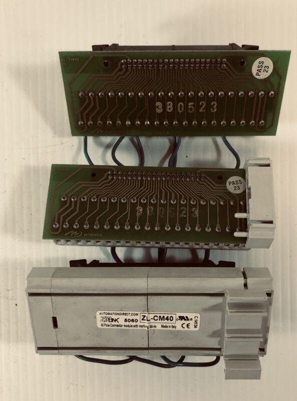 Automation Direct 40 Pole Connector Module ZL-CM40 (Lot of 3)