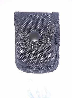Carry-All Cigar Lighter Pouch Black Formed Nylon Construction New