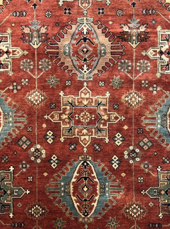 Terrific Tribal - Vintage Oriental Rug - Handmade Indian Carpet 8.10 X 11.9 Ft.