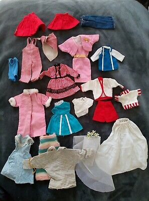 Bundle Of Mixed Vintage Dolls Clothes