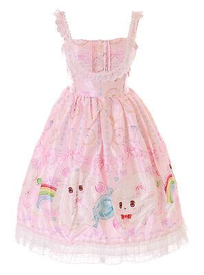 JSK-59-1 Rosa Arco Iris Oveja Corderito Donut Pastel Vestido Lolita Cosplay