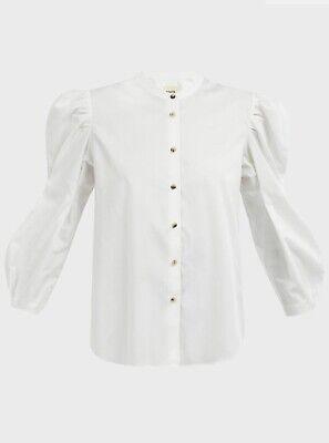 Khaite White Cotton-Poplin Shirt. Large. AW18