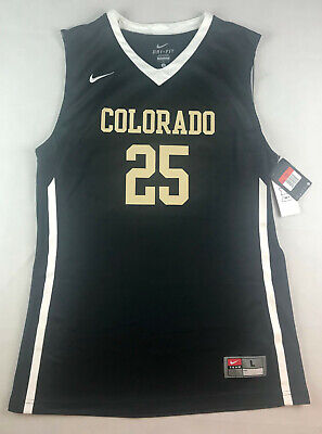 NIKE MENS L COLORADO BUFFALOES ELITE BASKETBALL JERSEY #25 BLACK 626671 012 G7