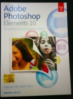 Adobe Photoshop Elements 10 - Mac | Windows (New) in Sealed Box