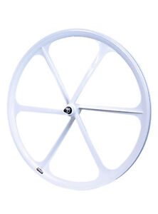 TENY 6 Spoke 700C Fixie Single Speed Road Bike Bicycle Wheel Front White