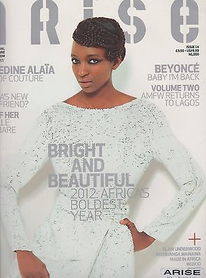 ARISE MAGAZINE UK ISSUE#14,BEYONCE Bright & Beautiful 2012:Africa's Boldest Year