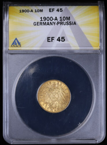 1900-A German 10 Mark Gold Coin ANACS EF45 Germany - Prussia