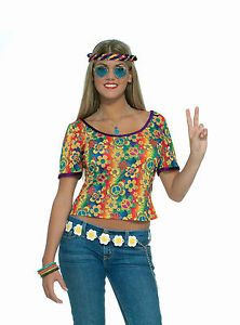 Adult Hippie Groovy Go Go 60s 70s Disco Shirt Costume