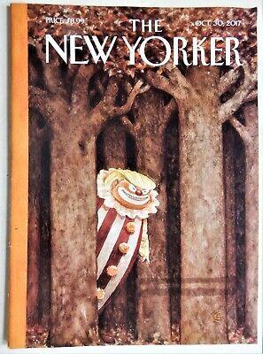 New Yorker Magazine October Surprise 30 2017 Donald Trump Halloween Clown
