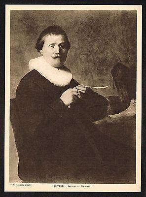 1910s Antique Coppenol Portrait Rembrandt Photogravure Art Print