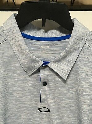 Used, Oakley Mens Golf Polo Shirt 2XL Tailored Fit Light blue Royal Logo for sale  Shipping to Canada