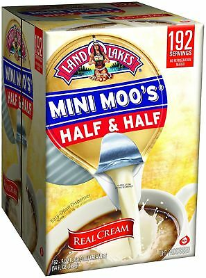 Land O Lakes Mini Moos Creamer Half and Half Cups 192 Count Refrigerated Coffee