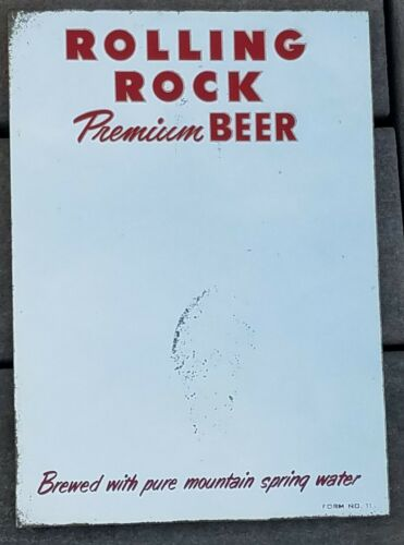 1950s REVERSE on GLASS MIRROR ROLLING ROCK PREMIUM BEER LATROBE PA RARE