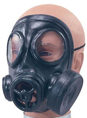 Rubber Toy Gas Mask WW2 World War 2 1940s Army Military Fancy Dress Costume  - Toy Gas Mask