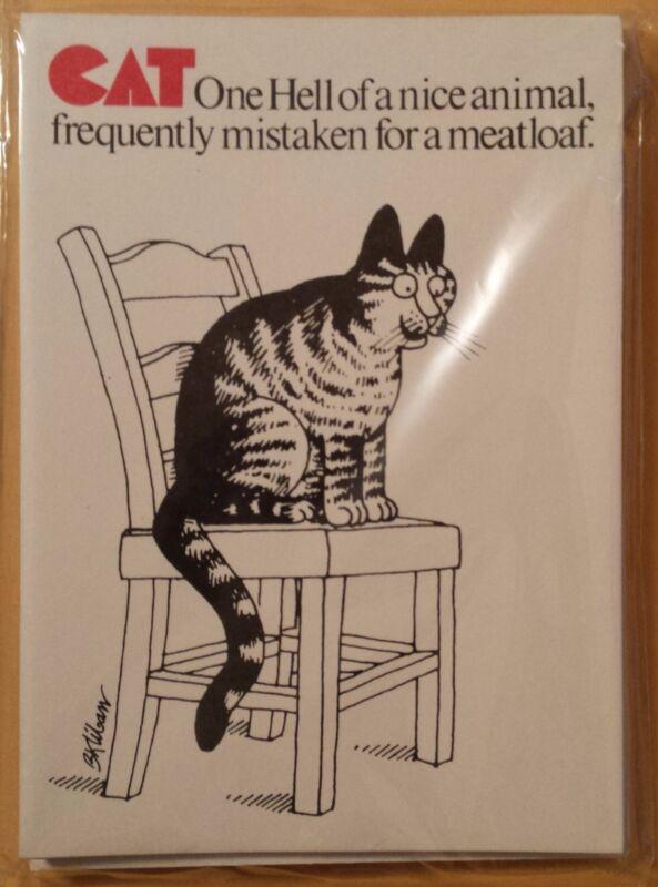 Vintage B. Kliban CatCards Cat Cards 10 Pack Sealed 1977 NEW SEALED FREE SHIP