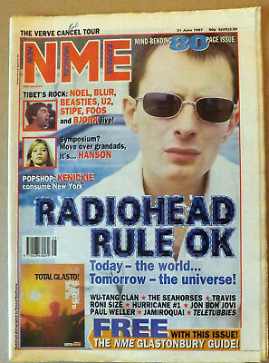 NME 6/21 1997 Radiohead Verve Beastie Boys U2 Foo Fighters Bjork Wu-Tang Clan
