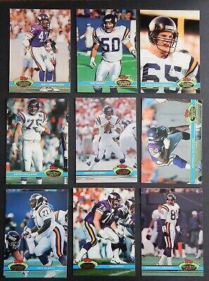 Minnesota Viking Football (1991 Topps Stadium Club Minnesota Viking Team Set 16 Cards with Herschel)
