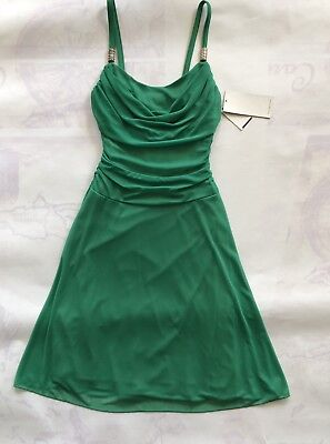 NWT Ruby Rox Green Goddess Dress Spaghetti Straps Ruched Back M - Green Goddess Dress