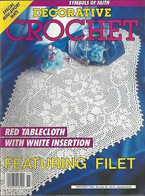 Винтажные DECORATIVE CROCHET Magazine (November 1992