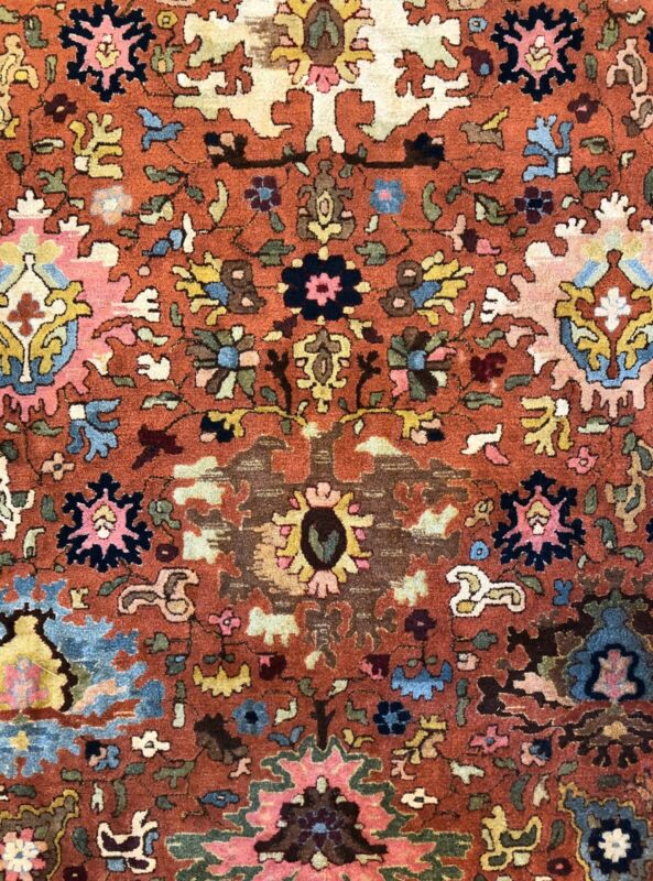 Tremendous Tetex - 1930s Antique German Rug - Hooked Carpet - 10.7 X 14.3 Ft.