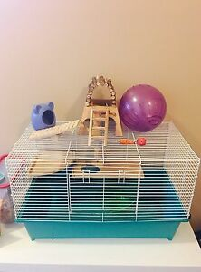 Hamster big cage and toys, nice home!
