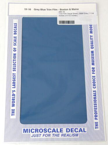 "All Scale Trim Film - B&M Grey Blue - Microscale #TF-16 (Size: 4-1/2"" x 7-1/2"")"