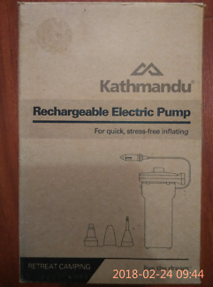 PRICE DROP KATHMANDU RECHARGEABLE ELECTRIC PUMP