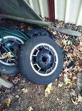 Free MAG wheels and tyres x 7, 1 set with good tread Coopers Plains Brisbane South West Preview