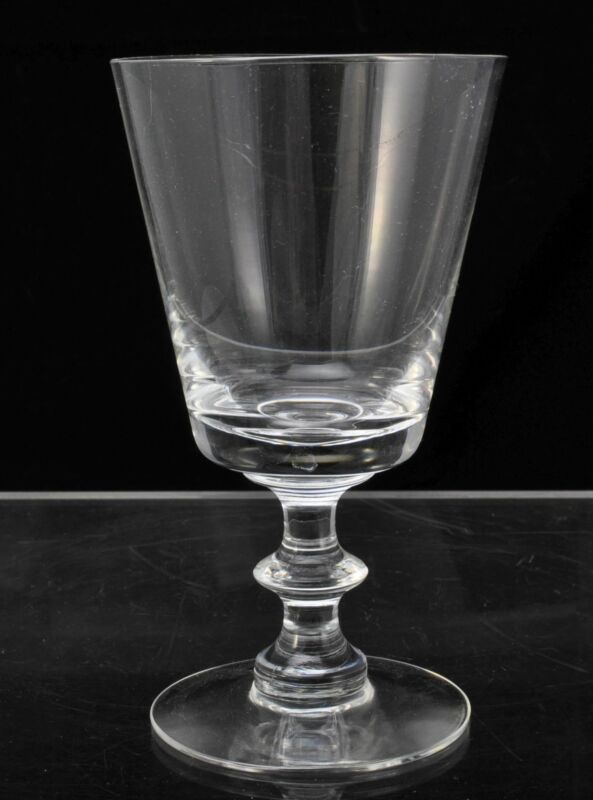 Set of 3 Modern Heisey Hand Blown Oxford Clear Glass 6 1/2 Inch Water Goblets