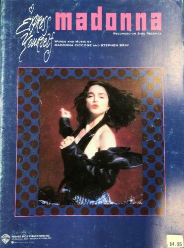Express Yourself, Madonna 1989 Hit Song Sheet Music RARE!