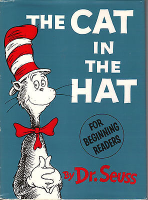 THE CAT IN THE HAT-1ST/1ST-1957-DR. SEUSS-W $2.00/DJ-A VERY RARE COLLECTIBLE!