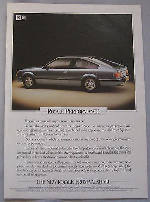 Vauxhall Royale Original advert