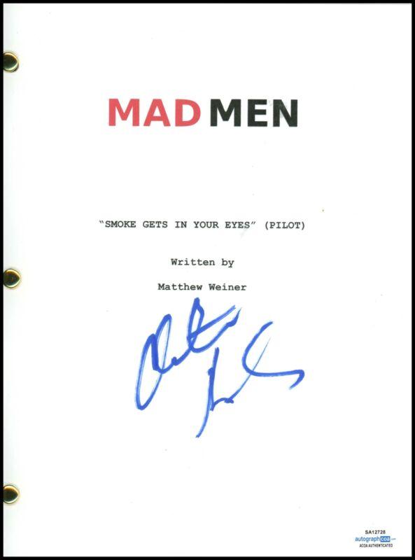 "Christina Hendricks ""Mad Men"" AUTOGRAPH Signed Full Complete Pilot Script ACOA"