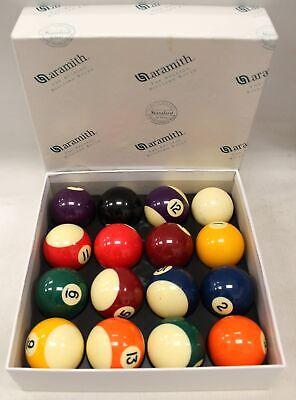 Aramith Belgian Billiard Pool Balls - Set of X16 Snooker Balls, Boxed - A23