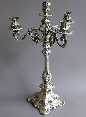 Großer Vierflammiger Kerzenleuchter 50 cm Silber 13 Lot!