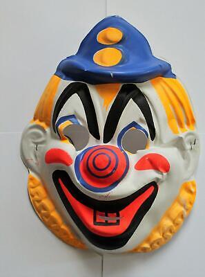 Vintage 1960's Ben Cooper Collegeville Clown Halloween Mask