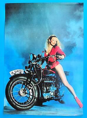 DDR Plakat Poster 1415 | Oldtimer Motorrad Model | 81 x 58 cm Original um 1980