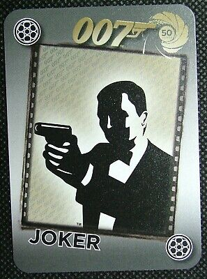 1 x Joker playing card 50 years 007 Silhouette James Bond pointing gun B B1