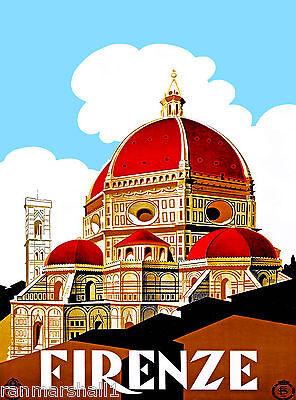 Florence Italy Basilica di Santa Maria del Fiore 2 Travel Advertisement Poster