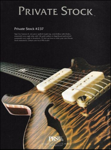 PRS Private Stock #237 electric guitar 2003 ad 8 x 11 advertisement print