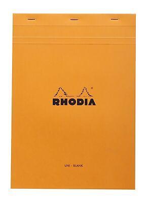 Rhodia Staplebound Notebook 8 14 X 11 34 Blank Orange