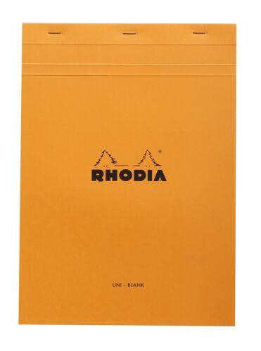 Rhodia Staplebound Notebook 8 1/4 x 11 3/4 Blank Orange