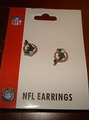 Miami Dolphins Stud Earrings (Old Logo)