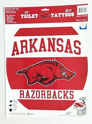 Officially Licensed NCAA-Arkansas Razorbacks Toilet - Razorback Tattoos