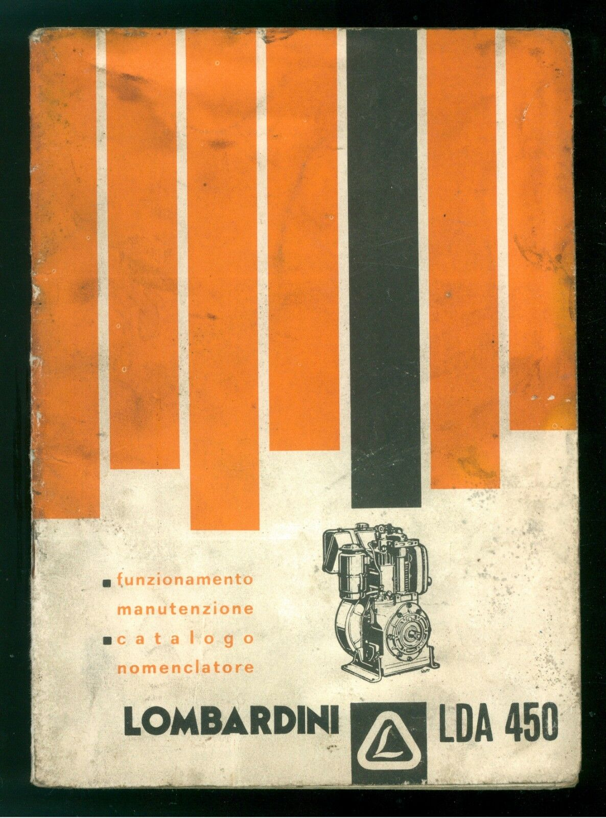 LOMBARDINI REGGIO EMILIA MOTORE LDA 450 FUNZIONAMENTO MANUTENZIONE CATALOGO 1970