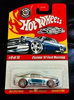 🏁 HOT WHEELS MODERN CLASSICS CHROME CUSTOM 2007 FORD MUSTANG 🏁