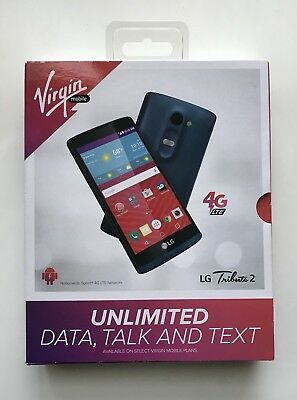 New Virgin Mobile Lg Tribute 2   8 Gb   Blue   Cdma
