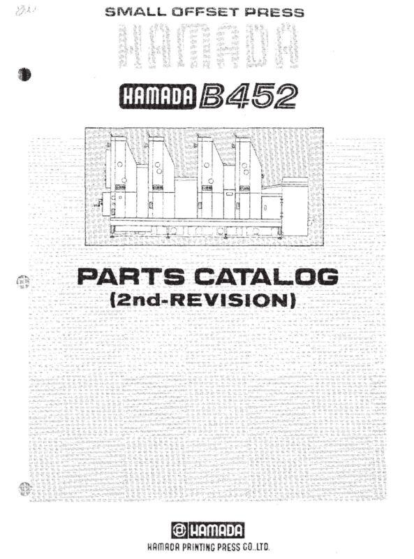 Hamada B452 Parts Manual 2nd revision (pdf file)(052)