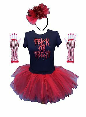 HALLOWEEN NEON 80S TUTU TRICK OR TREAT FANCY DRESS SET COSTUME HEAD BAND](80's Band Halloween Costume)