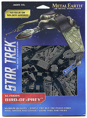 Metal Earth Star Trek Next Gen KLINGON BIRD OF PREY 3D Puzzle Micro Model